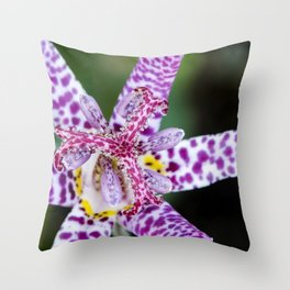 Toad Lily Center Perspective Throw Pillow