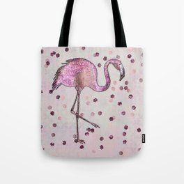 Glamorous Flamingo pink and rose gold sparkle Tote Bag