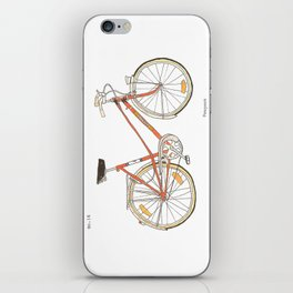Orange Bike no 16 iPhone Skin