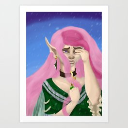 Tears From a Maiden's Frozen Heart Art Print