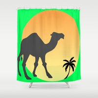 camel Shower Curtains featuring Camel by Geni