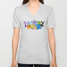"""The Dream Team"" - X & Y Eeveelutions Unisex V-Neck"