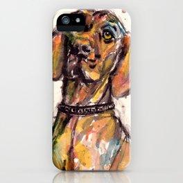 Hungarian Vizsla Dog Closeup iPhone Case