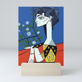 Picasso - Jacqueline with flowers Mini Art Print