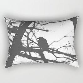 Bird Silhouette Black and White Photography Rectangular Pillow