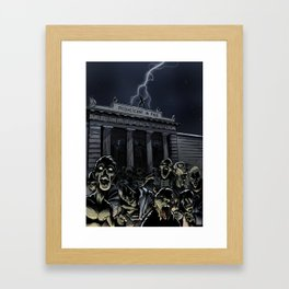 Zombie attack Framed Art Print