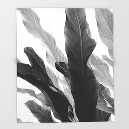Banana Leaves Jungle #3 #tropical #decor #art #society6 Throw Blanket