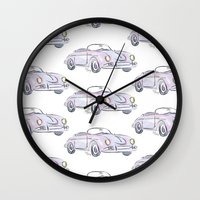 porsche Wall Clocks featuring Porsche by Kara Ashley Shreeve