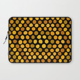 Honeycomb Ombre Dots Pattern Laptop Sleeve