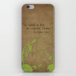 Weeds, Unloved Flowers iPhone Skin