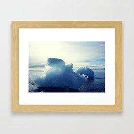 Blue and Black Framed Art Print