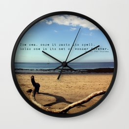 The Sea Casts its Spell Wall Clock