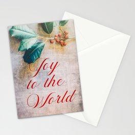 Joy to the World 2 Stationery Cards