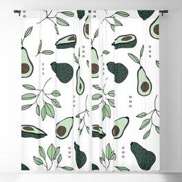 Avocado harvest veggie lovers garden mint green spring summer Blackout Curtain