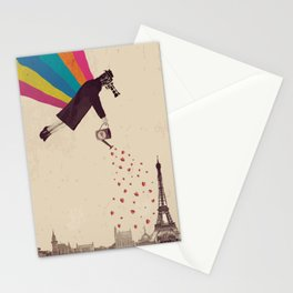 Parisians, eat strawberries. Stationery Cards