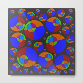 Bubble red & blue 09 Metal Print
