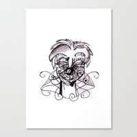 clown Canvas Prints featuring Clown. by sonigque