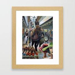 Warehouse, nonsocial vibration Framed Art Print