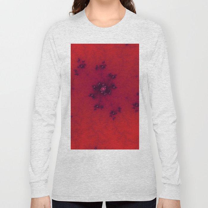 Red Fractal Long Sleeve T-shirt
