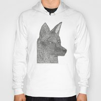coyote Hoodies featuring Coyote by Amber Lundy Leigh