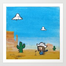 Wild West Hero Art Print