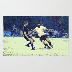 The Challenge - Soccer Players Rug