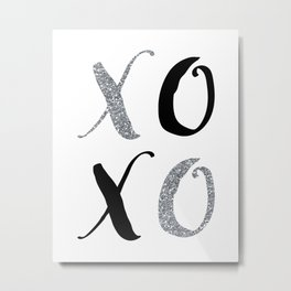 XOXO Metal Print