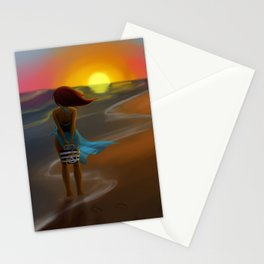 By the beautiful sea Stationery Cards