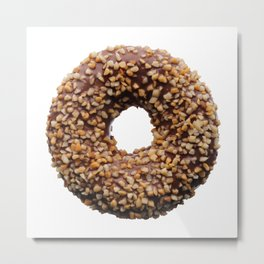 Chocolate and crushed nuts donut Metal Print
