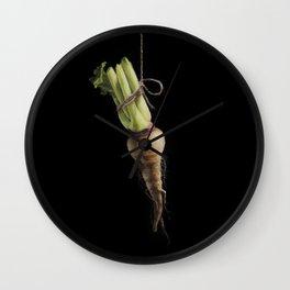 Vegetable Vanitas: The Parsnip by Brooke Figer Wall Clock