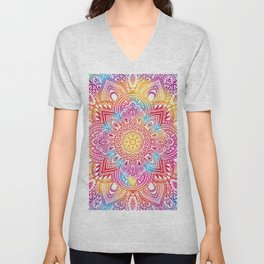 Madala Ombre Colorful Unisex V-Neck