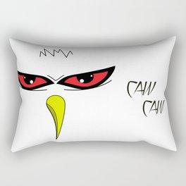 Angry White Bird Rectangular Pillow