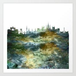 Budapest Skyline Hungary Art Print