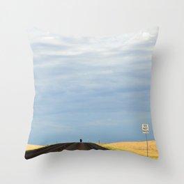 Do Not Pass - South Dakota Open Road Throw Pillow
