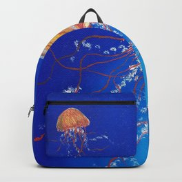 Jellyfish, Oil painting by Faye Backpack
