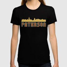 Vintage Style Paterson New Jersey Skyline T-shirt