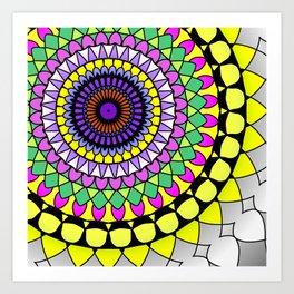 Mandala fun Art Print