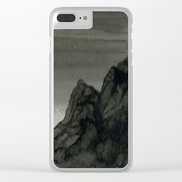 Dawn Over the Mountain Clear iPhone Case