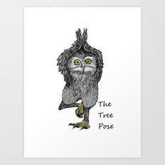 the tree pose Art Print
