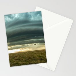 Filling the Void - Layered Storm in Western Nebraska Stationery Cards