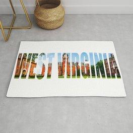 West Virginia Campus Lettering Print Rug