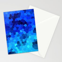 Ocean Blue Mosaic Pattern Stationery Cards