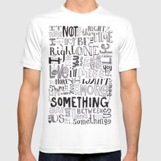Something About Us Mens Fitted Tee MEDIUM White