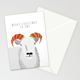 Merry Christmas to Ewe 2 Stationery Cards