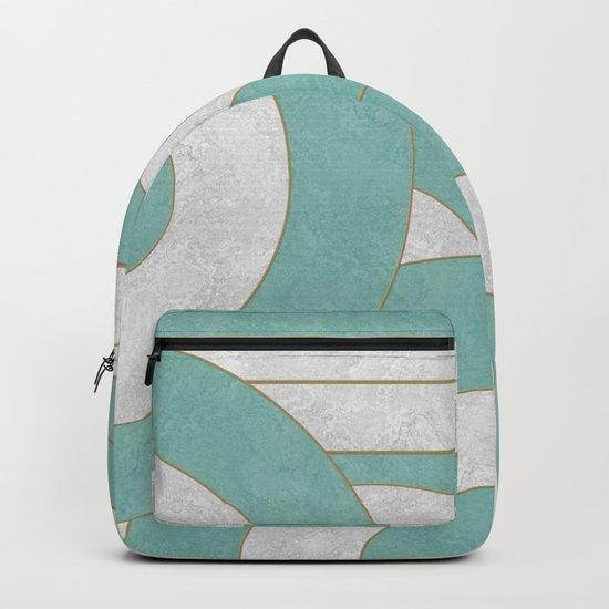 Geometric Marble 04 Backpack