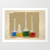 lab Art Prints featuring Lab by Nikolay Raikov