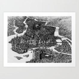Rhapsody on a New York Theme (No Tilt-shift) Art Print