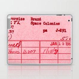 Library Card 797 Pink Laptop & iPad Skin