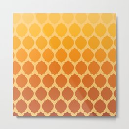 Morocco- Orange  Metal Print