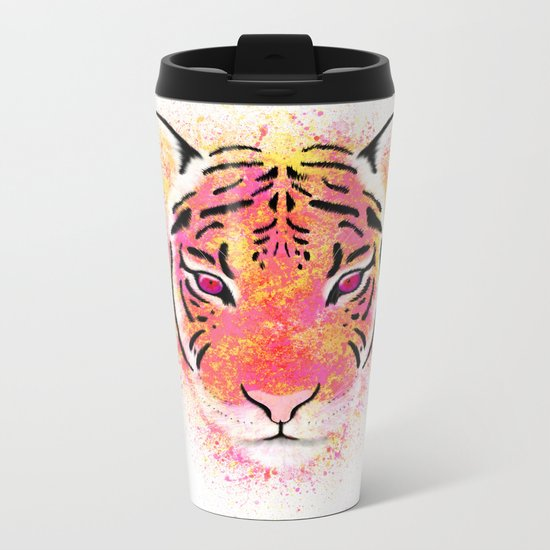 Sherbet Tiger Metal Travel Mug